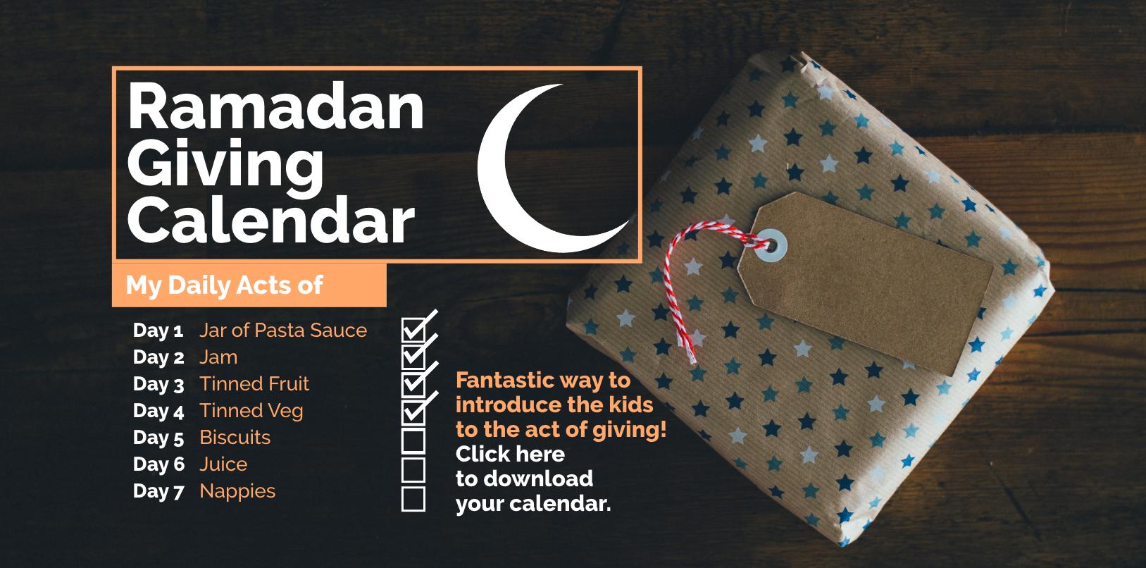 Ramadan Giving Calendar 2019
