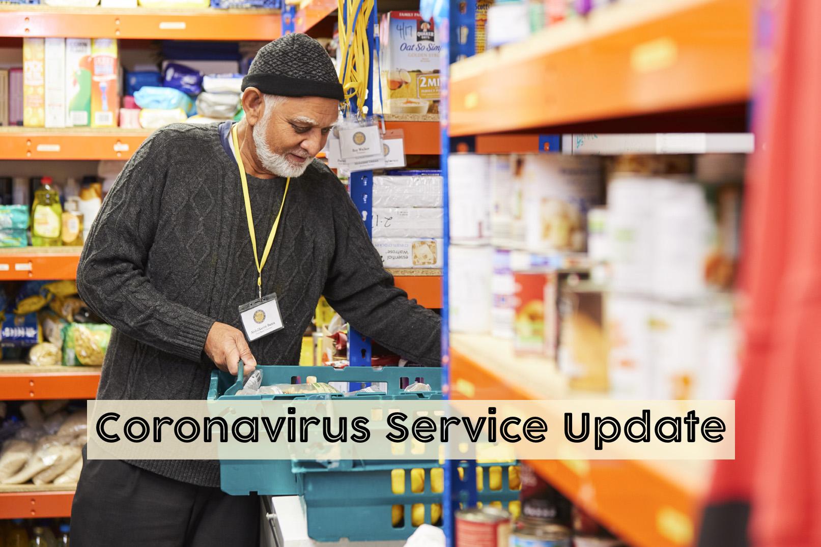 Coronavirus Service Update: 15 March 2020