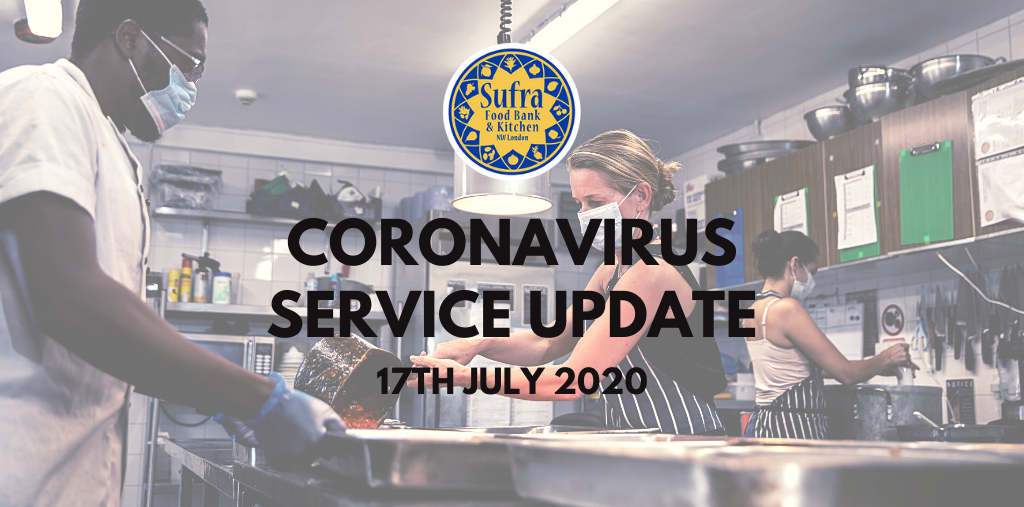 Coronavirus Service Update – July 17th 2020