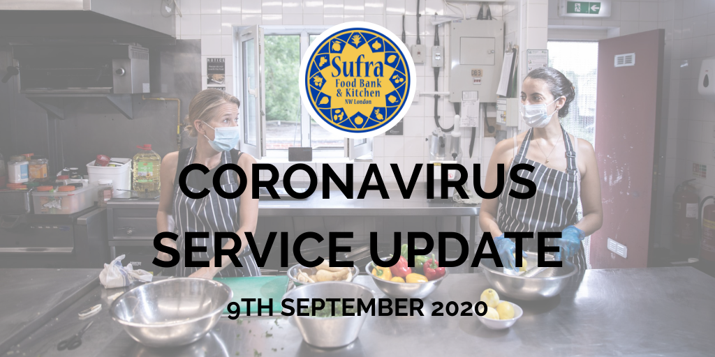 Coronavirus Service Update – September 9th 2020